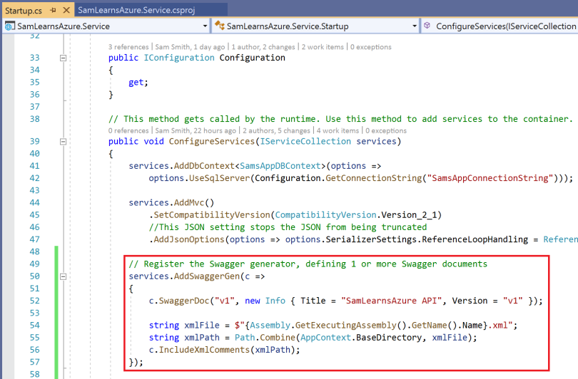 Adding documentation to our web service with Swagger – Sam Learns Azure